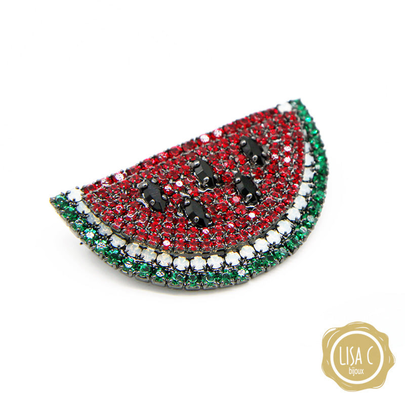 [Lisa C] watermelon brooch
