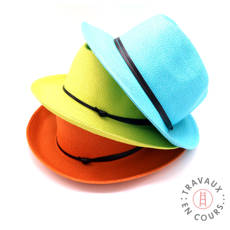 [travaux] leatherband fedora