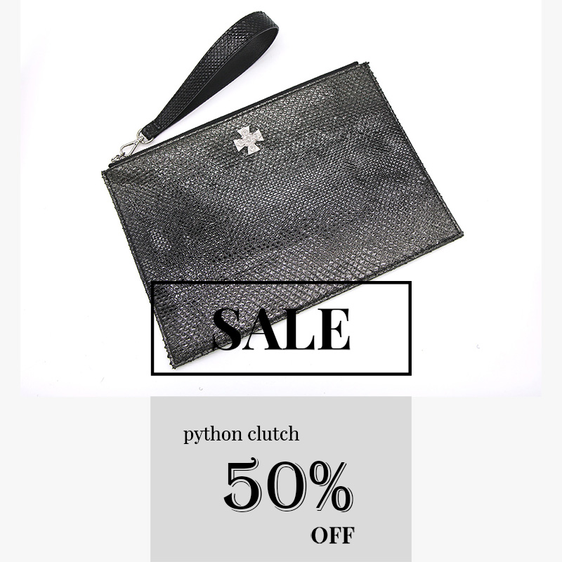 [CLEARANCE] croce python clutch bag